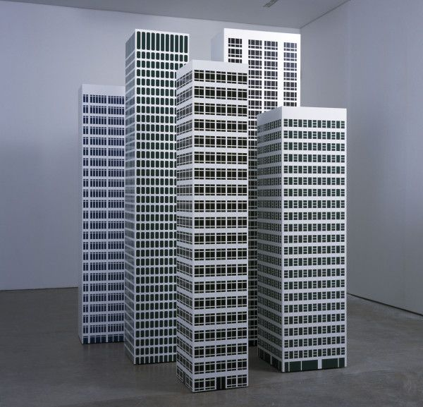 Julian Opie – Installation View, 2001