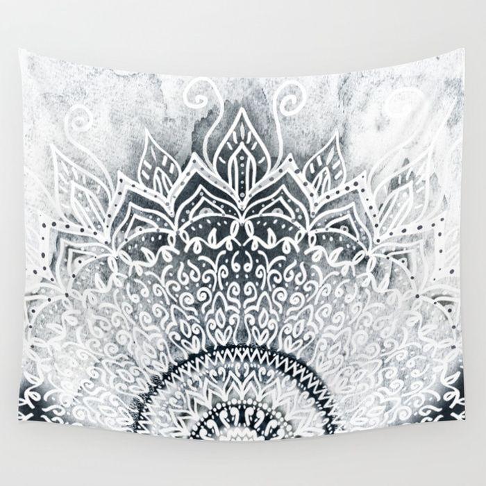 Buy MINA MANDALA Wall Tapestry by nika  Worldwide shipping