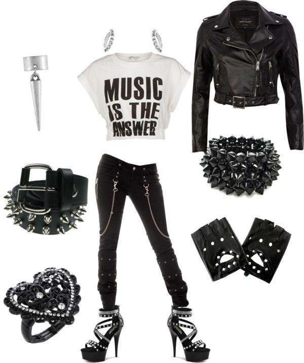 Punk Rock Chic Dark Black Concert Nana Rebel By Zillpatel On Polyvore Clothing Pinterest