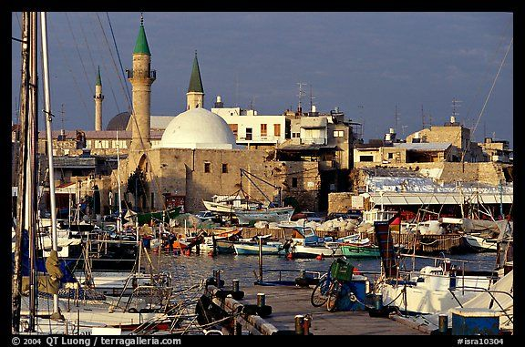 Port and Mosques, Akko (Acre). Israel