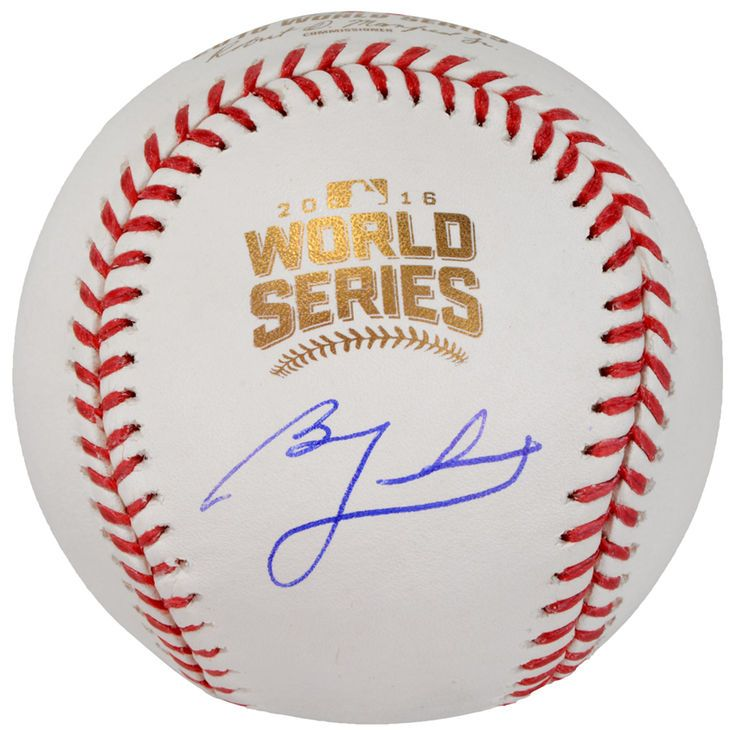Ben Zobrist Chicago Cubs Fanatics Authentic 2016 MLB World Series Champions Autographed World Series Logo Baseball - $279.99