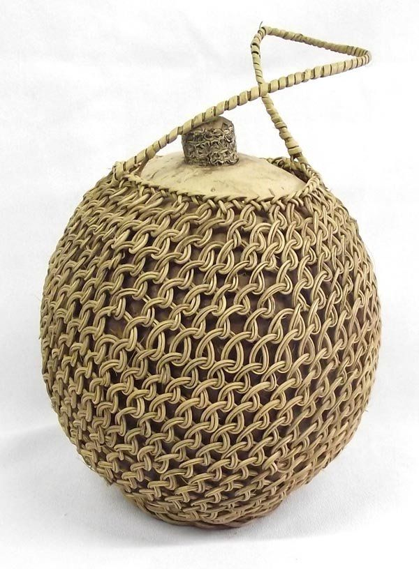 Pima Indian Gourd Basket Canteen
