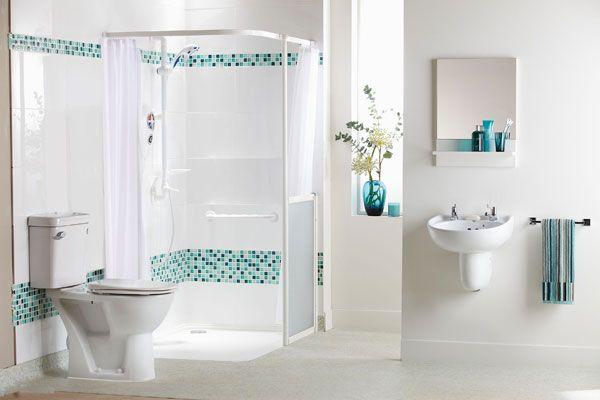 Elderly Bathroom Design #DisabledBathroomDesigns >> Find more disability design tips at DisabledBathrooms.org