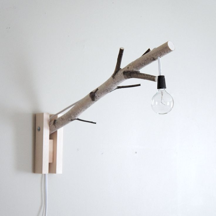 Urban+Forest's wall/desk lamp - natural white birch wood