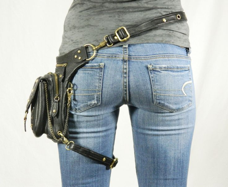Outlaw Pack Black Thigh Holster Protected Purse by WCCouture
