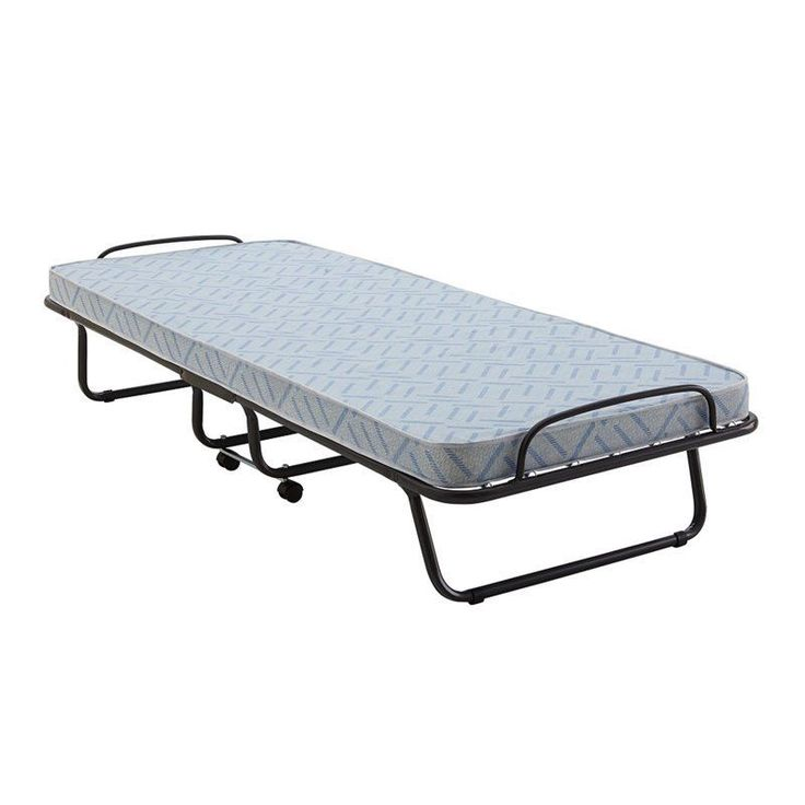 Signature Sleep Classic Folding Guest Bed in White and Black Transitional #Ameriwood