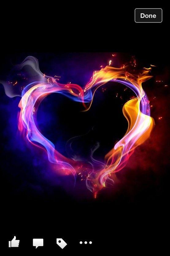 Epic glowing heart