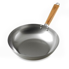 """Asian Fusion 12"""" Carbon Steel Stir Fry Pan - Bed Bath & Beyond. Lesson learnt from this purchase: should have purchased a wok from a Chinese store."""