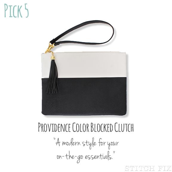 Dear Stitch Fix Stylist, I am in need of a fun, new going-out clutch. Loving the color blocked design.