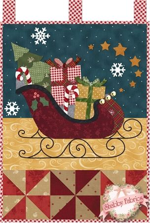 Little Blessings - Santa's Sleigh Pattern: Full Set of 12 patterns available here - buy all 12 and save 20%! Let the Little Blessings bring you cheer all year long! Jennifer Bosworth of Shabby Fabrics has created this wallhanging series using some of her favorite designs from previous quilts as well as adding new ones! &nbsp…