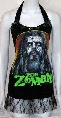 Rob Zombie Tshirt Top Corset Horror Goth Lolita DIY