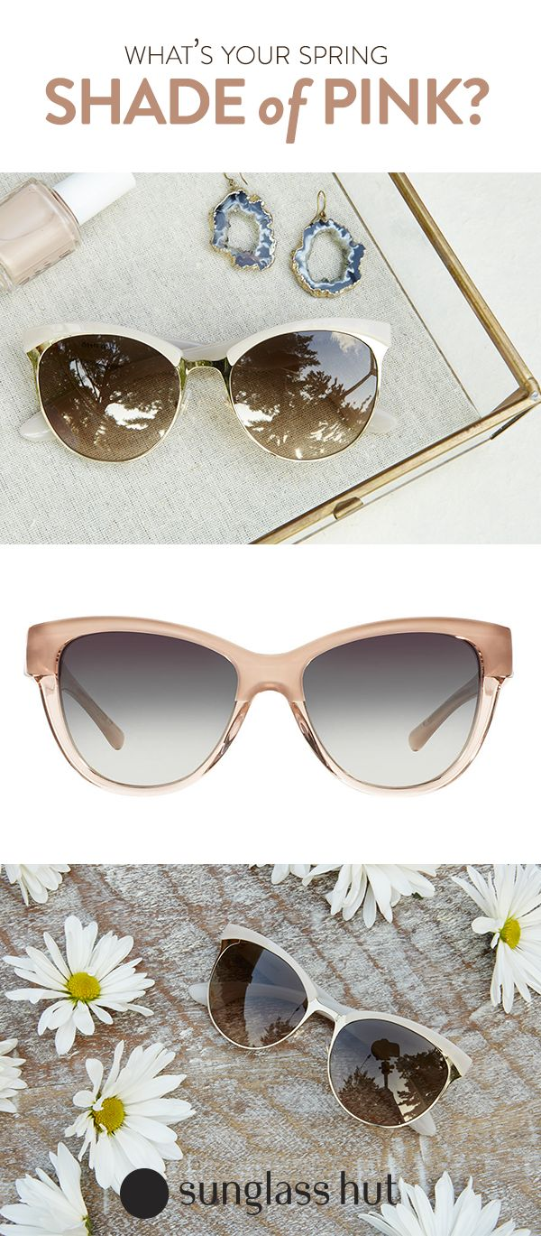 All the shades of pink to unlock all the shades of you. Choose Burberry or Miu Miu sunglasses for frames that will take you from weekday to weekend. Whether you wear them with a blazer or a crop top, you'll make a statement that will compliment your spring palette.