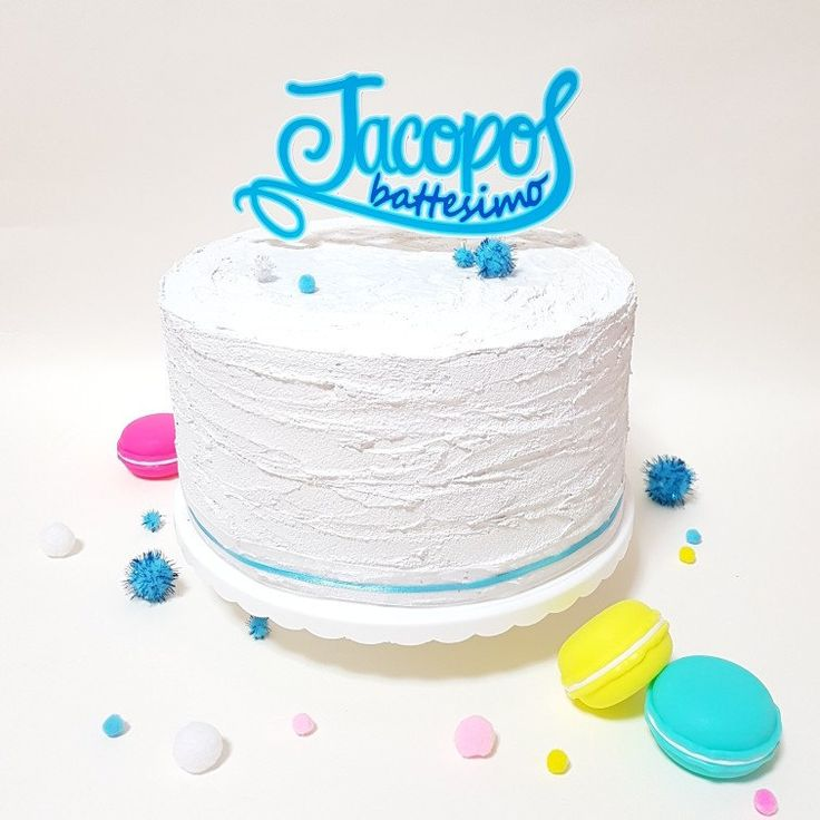 Customizable name and event cake topper