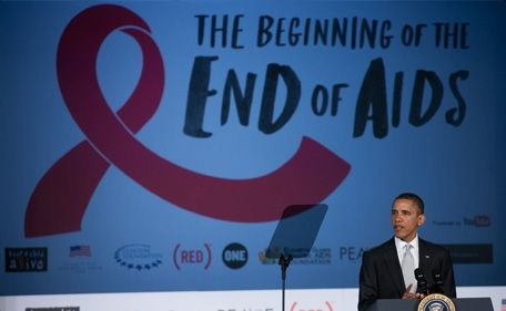 """""""Few could have imagined that we'd be talking about the real possibility of an AIDS-free generation.  But that's what we're talking about...make no mistake, we are going to win this fight.  But the fight is not over -- not by a long shot.  Not for the 1.2 million Americans who are living with HIV right now.  Not for the Americans who are infected every day.  This fight is not over for them, it's not over for their families...and it certainly isn't over for your President.""""  -President Barack Obama  World AIDS Day, Dec 1, 2011: Aid Free, Civil Rights, Hiv Care, House Work, Presidents Barack, Highlights Barrier, Iom Highlights, White House, Barack Obama"""