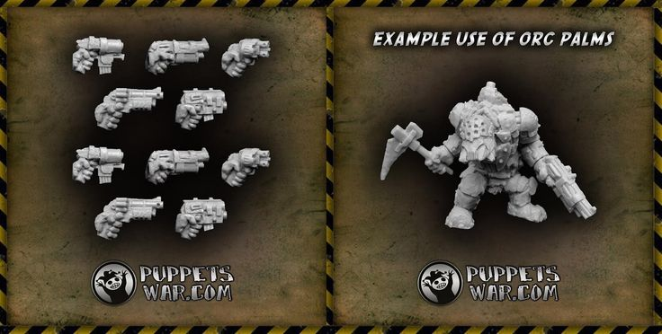 Feel the green power!  New release - Orc Pistols Left Palms https://puppetswar.eu/product.php?id_product=675 And remember - all orc models and accessories are available with 10% discount now. https://puppetswar.eu/category.php?id_category=154