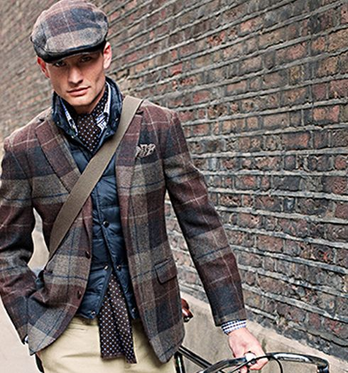 Time Era Dressing -- Sans the vest, this man evokes the emotion of the 1940s