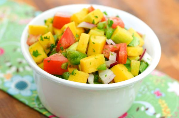 Mango salsa for topping grilled fish recipes pinterest for Mango salsa recipe for fish