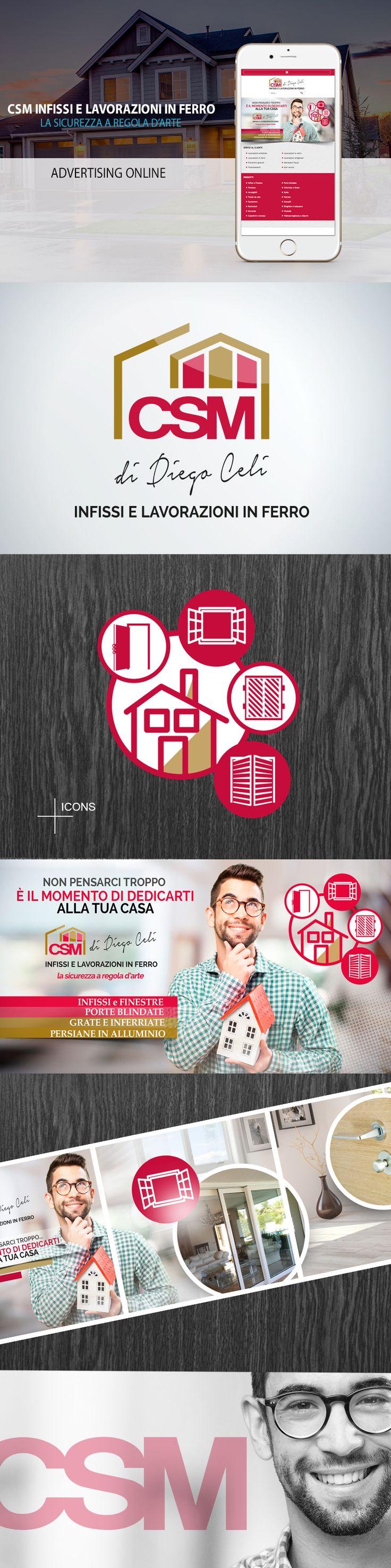 Advertising online per CSM INFISSI di Diego Celi. Studio, ideazione e realizzazione della campagna online targata CeC - Creare e Comunicare - Web and Communication Agency - Roma - https://www.csmdiegoceliinfissi.it/