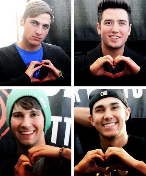 Big Time Rush <3 could they be any cuter #James;)<3