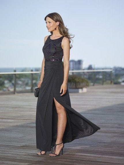 Mr K Purple Sequinned Black Bodice and Black jersey skirt Size 8, 12