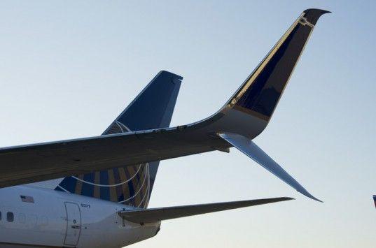 United airlines Winglet, Scimitar winglet, Aviation Partners boeing, fuel efficiency