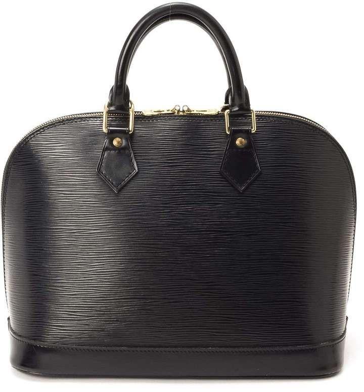 Alma - Sac à main Louis Vuitton - en cuir Epi noir