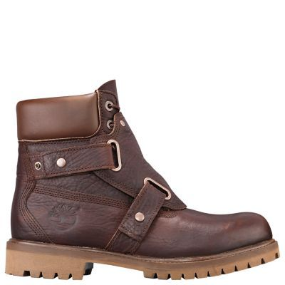 Timberland Men's 6-Inch Waterproof Foundry Boots Brown Full-Grain