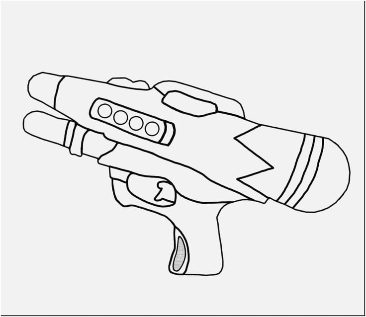 Coloring Rifle Coloring Pages 36 Fortnite Weapons Scar