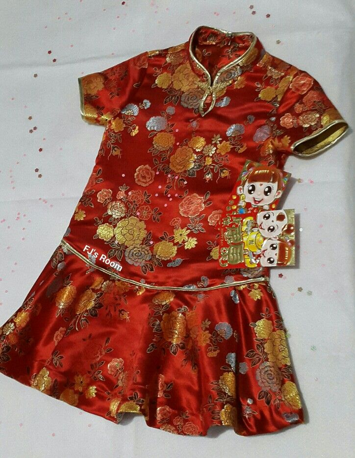 my first trial of little girl chiongsam for Lunar New Year