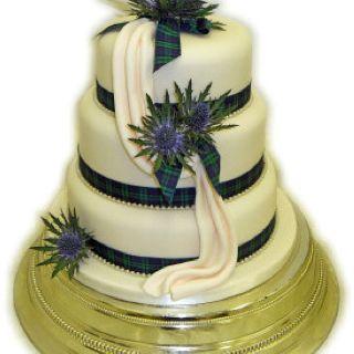 Very Cool Scottish Wedding Cake Thistle