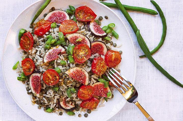 Recept 5 2 dieten - Linssallad med Grillad Tomater och Fikon