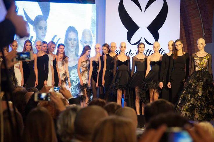 wsa.art.pl i #ewaminge w #arkadykubickiego w #Warsaw #pokaz #fashion #makeup #blackbutterflis