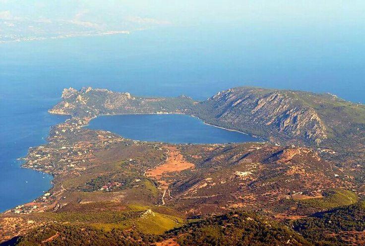 Blue lake loutraki Greece