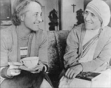 Elizabeth Kubler Ross with Mother Theresa.   I love this powerful quote. These are words to live by:  It is not the end of the physical body that should worry us. Rather, our concern must be to live while we're alive - to release our inner selves from the spiritual death that comes with living behind a facade designed to conform to external definitions of who and what we are.  EKR