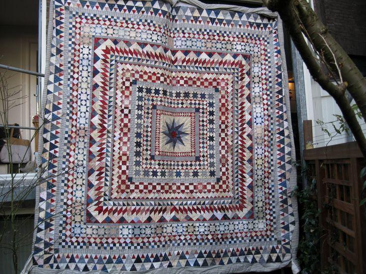 dutch quilt cat: medaillon quilt from Isabeau