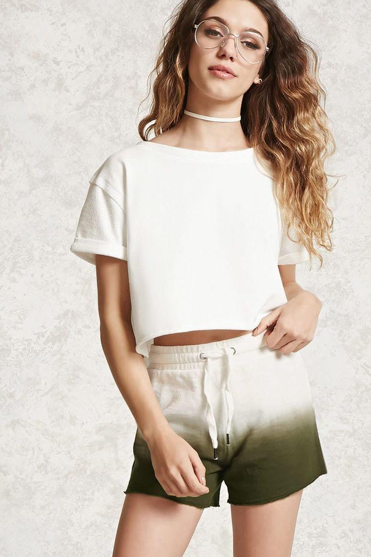Raw-Cut Dip Dye Shorts