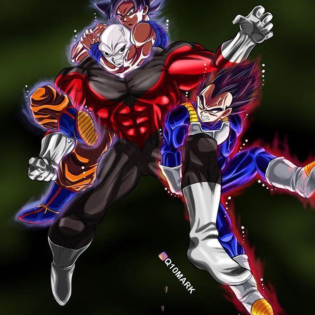 Jiren Goku and Vegeta DBS