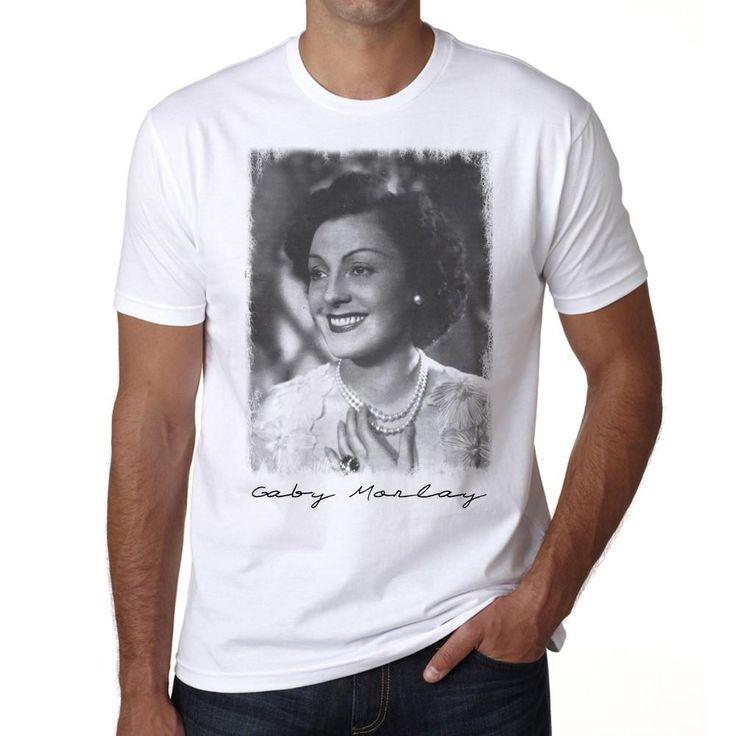 Gaby Morlay Tshirt, Men's tee, White, 100% Cotton , Actors