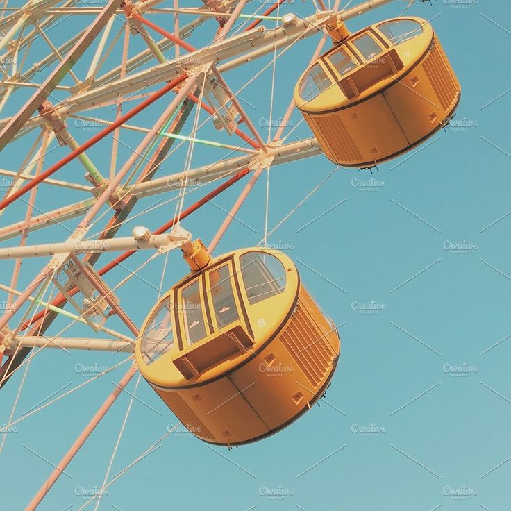 Ferris wheel with blue sky by Nuchylee Photo on @creativemarket