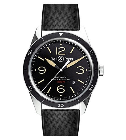 BELL & ROSS BR123 Vintage Sport Heritage steel watch