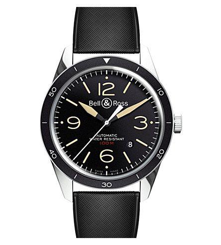BELL & ROSS BR123 Vintage Sport Heritage steel watch