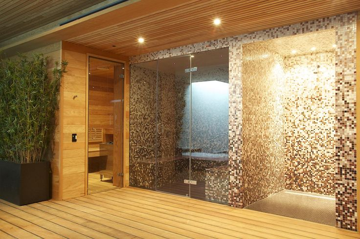 Sauna Steam Room Shower Area Home Sauna Pinterest