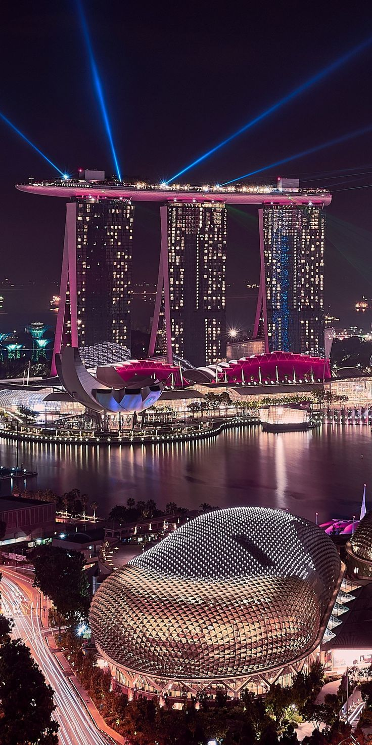 Marina Bay Sands Singapore Cityscape Buildings Aerial View