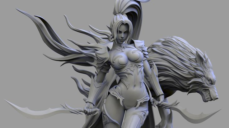 ArtStation - Shadow Wolf 1/8 Statue Paint Finish , R1 Chung
