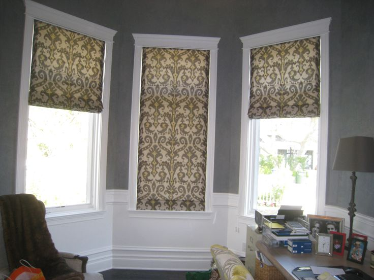 Flat Roman Shade With Valance