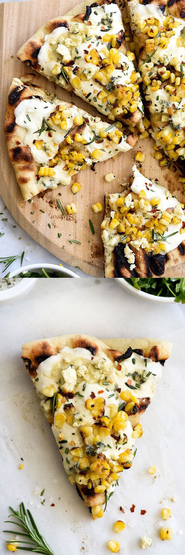 Baking pizza on the grill makes it taste just like the one from my favorite pizzaria | foodiecrush.com