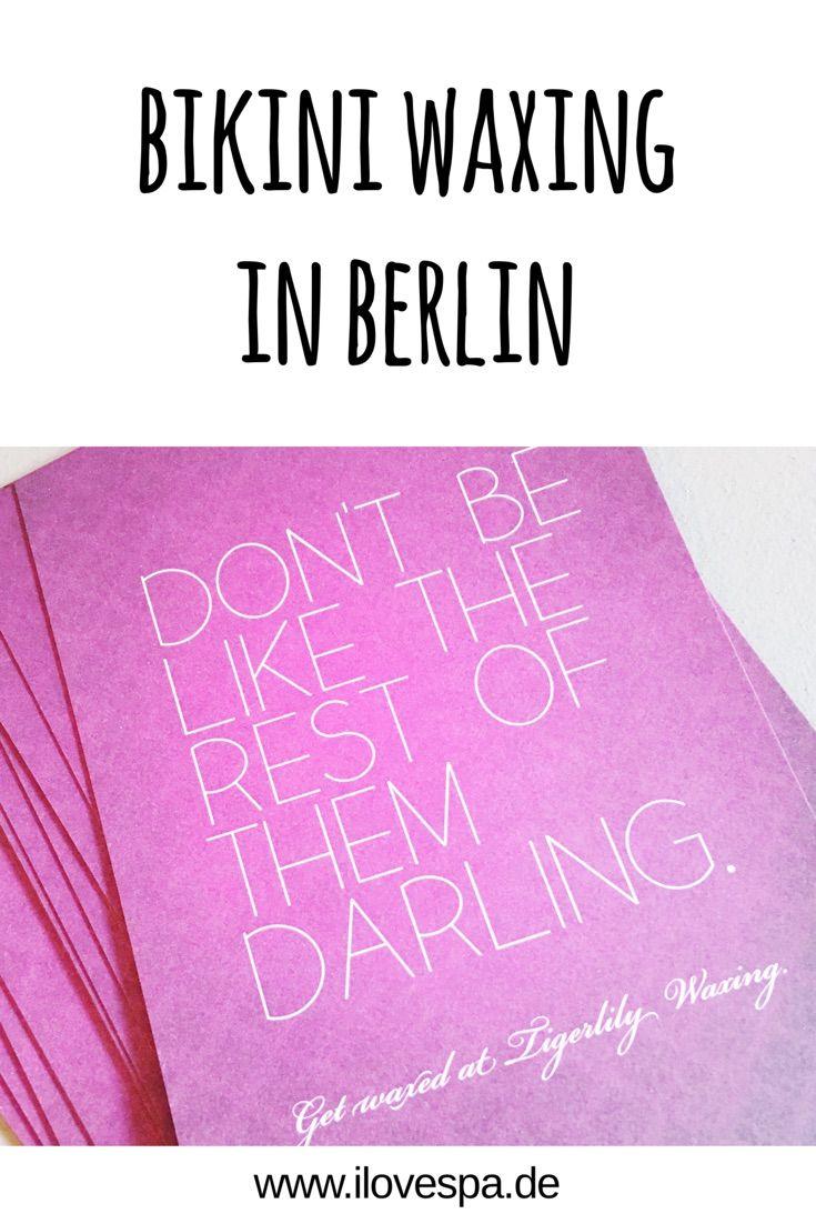 Beste Adresse für Bikini Waxing in Berlin - Tigerlily Waxing Berlin - Brazilian Waxing