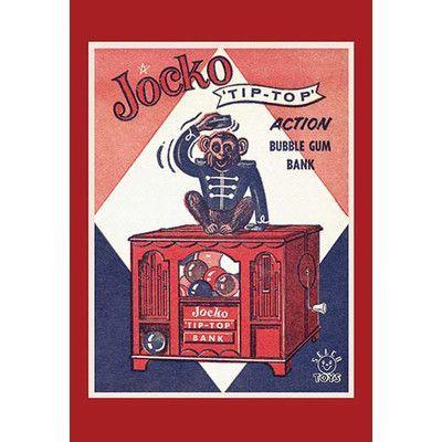 "Buyenlarge 'Jocko Tip Top Bank' Vintage Advertisement Size: 66"" H x 44"" W"