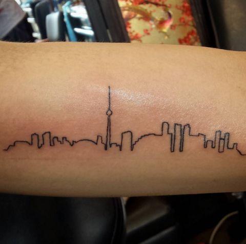 196 best images about tatuaggi on pinterest for Cleveland skyline tattoo