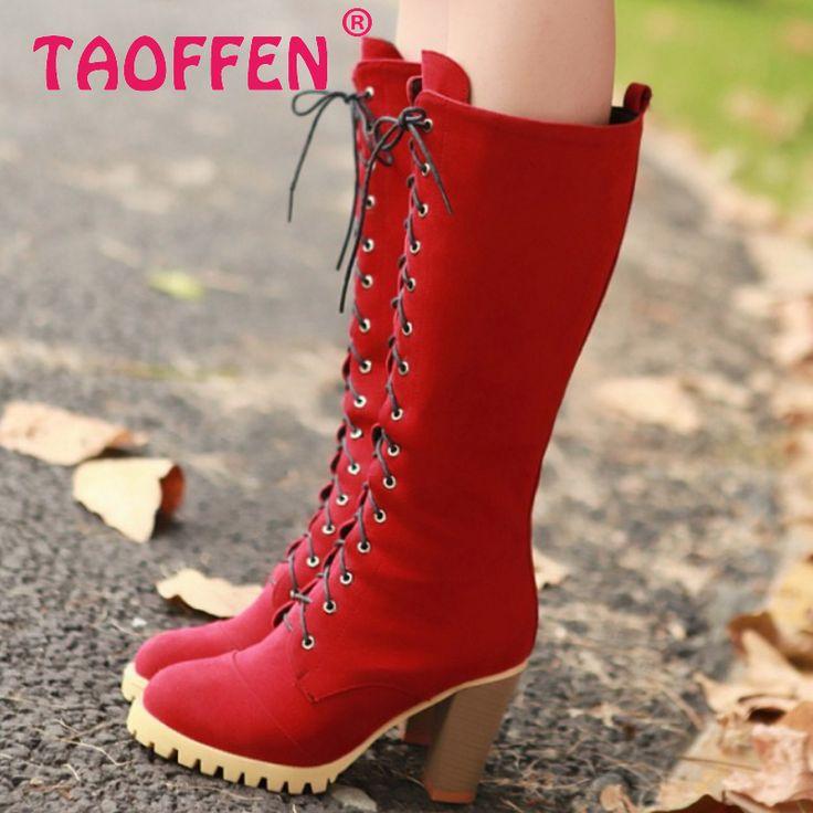 Moda de salto alto , Botas de equitação Botas de inverno Botas de neve quente sapatos calçados sapatos P2413 tamanho 34 - 40 alishoppbrasil